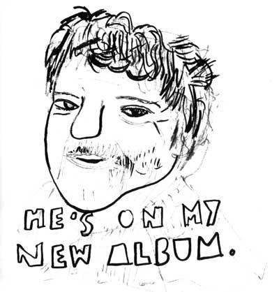 he's on my new album