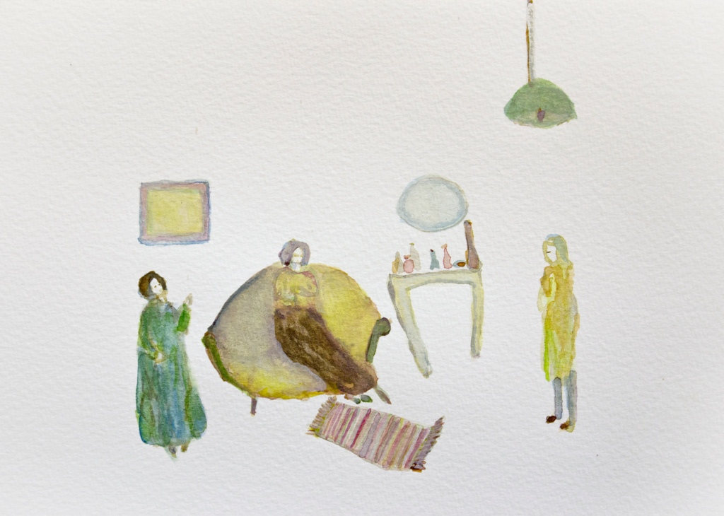 3_jacqueline_utley_Meet at Nancy's, watercolour on paper, 2013